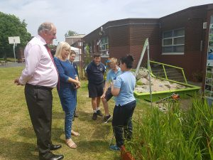 Minister Mary Mitchell O'Connor gets a tour